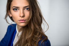 Portrait of a beautiful brown-haired girl Royalty Free Stock Photo