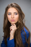 Portrait of a beautiful brown-haired girl Royalty Free Stock Image