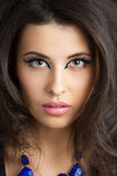 Portrait of beautiful brunet woman Stock Image