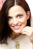 Portrait of a beautiful brunette Stock Image