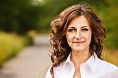Portrait of beautiful brunette Stock Image