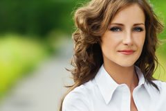 Portrait of beautiful brunette Royalty Free Stock Image