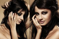 Portrait of beautiful brunette Stock Photo