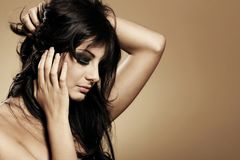 Portrait of beautiful brunette Royalty Free Stock Images