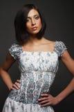 Portrait of a beautiful brunette Stock Photography