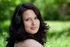 Portrait of a beautiful brunette Royalty Free Stock Photography