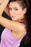 Portrait of a beautiful brunette Stock Images