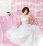 Portrait of beautiful  brunette bride Royalty Free Stock Image