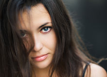 Portrait of a beautiful brunette. Royalty Free Stock Photos
