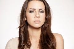 Portrait beautiful brunette Stock Image