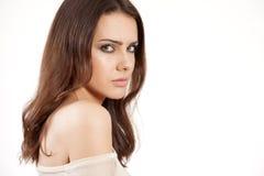 Portrait beautiful brunette Stock Images