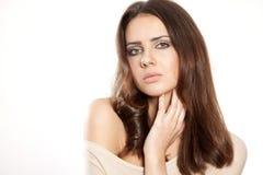 Portrait beautiful brunette Stock Photos