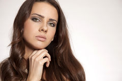 Portrait beautiful brunette Royalty Free Stock Images