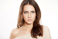 Portrait beautiful brunette Royalty Free Stock Photos