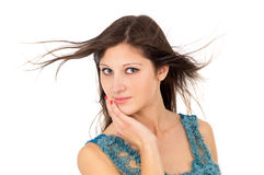 Portrait of a beautiful brunette girl Royalty Free Stock Photo