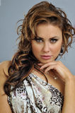 Portrait of beautiful brunette girl Stock Photo