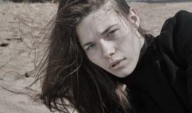 Portrait of beautiful brunette girl Royalty Free Stock Image