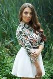 Portrait of beautiful brunette girl Stock Photos