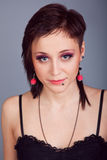 Portrait of a beautiful brunette girl Royalty Free Stock Image