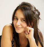 Portrait of a beautiful brunette Royalty Free Stock Image