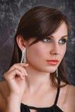 Portrait attractive brunette royalty free stock photo