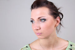 Portrait of beautiful brunette with make up Royalty Free Stock Image