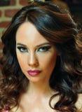 Portrait of beautiful brunette model Stock Photo