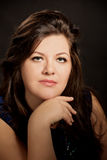 Portrait of beautiful brunette plus size  young  woman Royalty Free Stock Photo