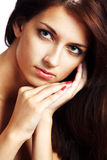 Portrait of a beautiful brunette in studio Royalty Free Stock Photography