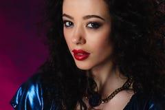 Portrait of beautiful brunette woma Fashion photo Stock Photos