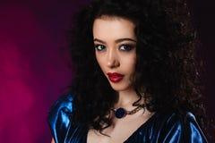 Portrait of beautiful brunette woma Fashion photo Stock Photo
