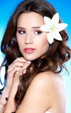 Portrait of a beautiful brunette woman Royalty Free Stock Images