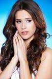 Portrait of a beautiful brunette woman Stock Photos