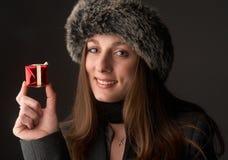 Portrait of beautiful brunette woman Stock Photography
