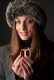 Portrait of beautiful brunette woman Royalty Free Stock Photos