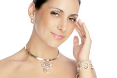 Portrait of a beautiful brunette woman royalty free stock photos