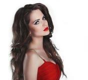 Portrait of beautiful brunette woman Stock Photos