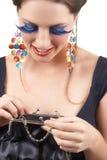 Portrait of beautiful brunette woman Stock Photo