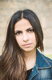 Portrait of a beautiful brunette woman Stock Image