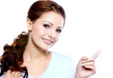 Portrait of a beautiful brunette women Stock Images