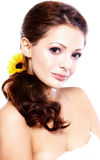 Portrait of a beautiful brunette women Royalty Free Stock Images
