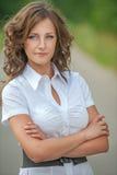 Portrait of beautiful brunette Royalty Free Stock Photos