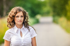 Portrait of beautiful brunette Royalty Free Stock Photos