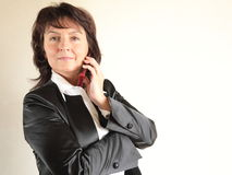 Portrait of the beautiful business woman Stock Images