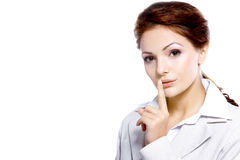 Portrait of a beautiful business woman Royalty Free Stock Image