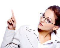 Portrait of a beautiful business woman Royalty Free Stock Photography