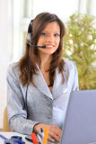 Portrait of a beautiful business woman Stock Images