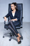 Portrait of beautiful business woman Stock Images