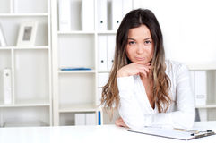 Portrait of beautiful business woman Stock Image