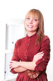 Portrait of beautiful business woman. Portrait of a beautiful woman who works in the office Stock Photography